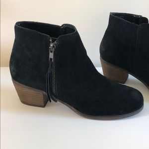 Black Suede Booties Size 8